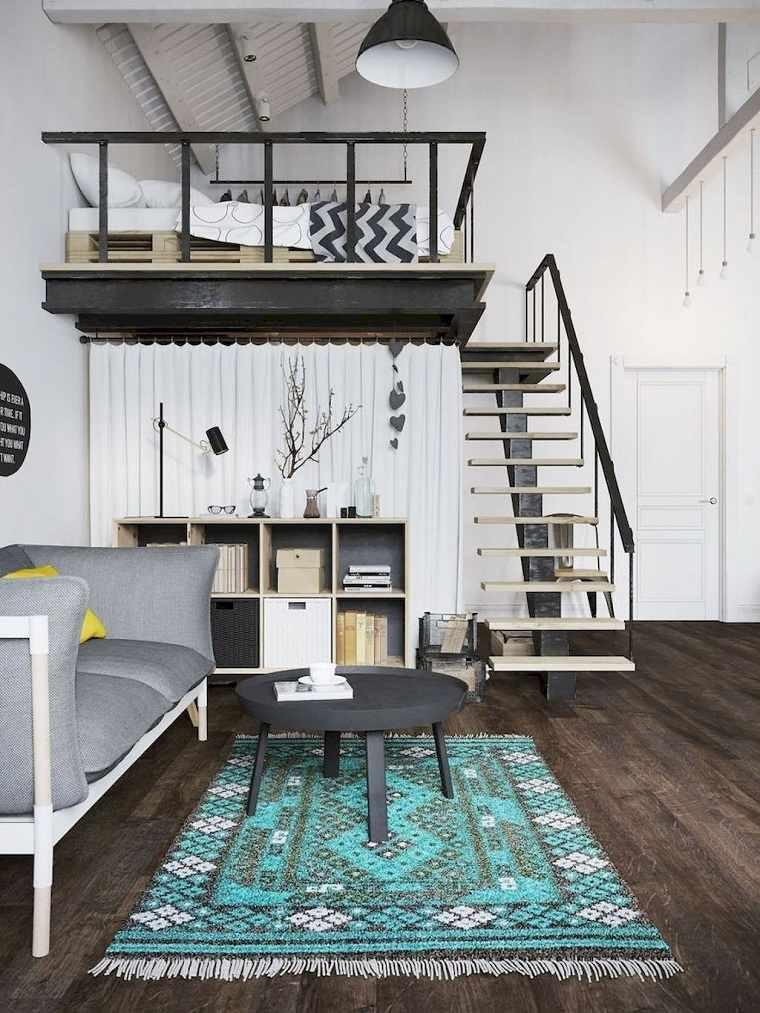 Decoración loft pequeño-espacios-techo-alto