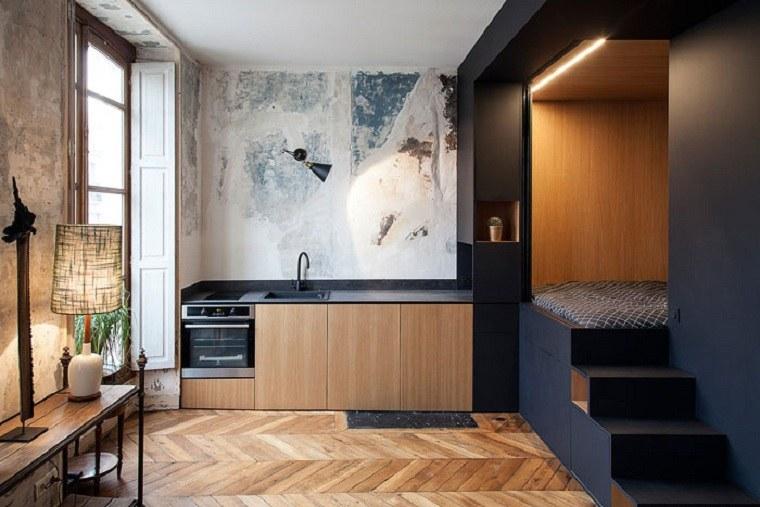 Decoración loft pequeño-ideas-cocina