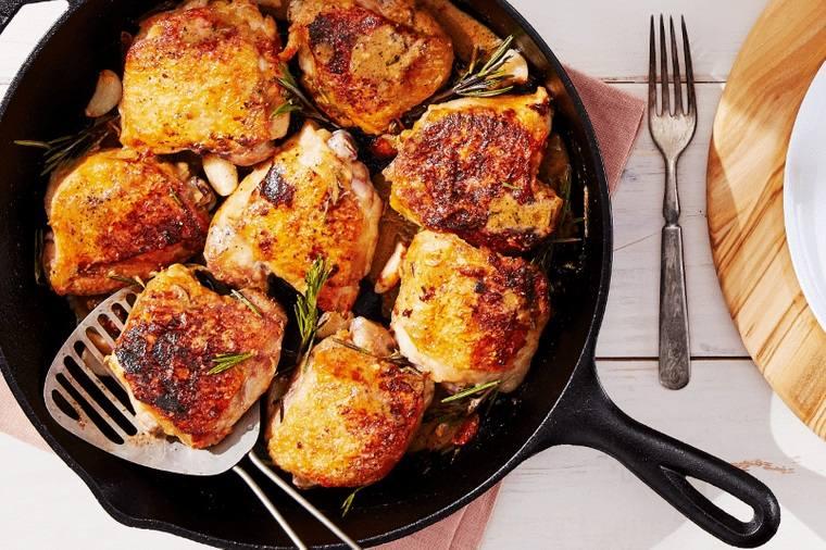 cena san valentín muslos de pollo