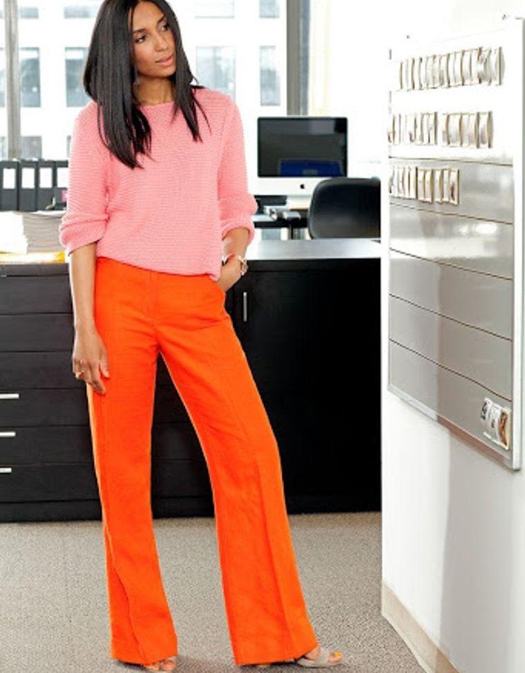 color naranja para la oficina