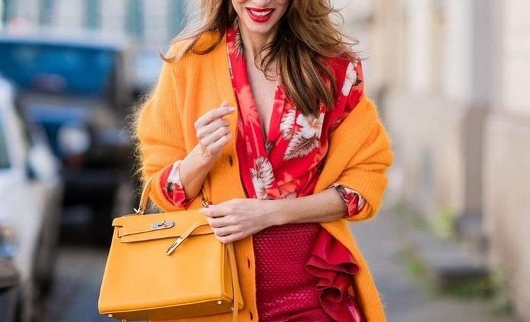 color naranja ropa femenina