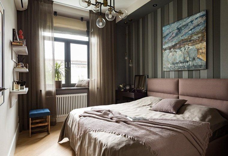 cómo decorar un dormitorio pequeño colores-oscuros-dormitorio-ideas