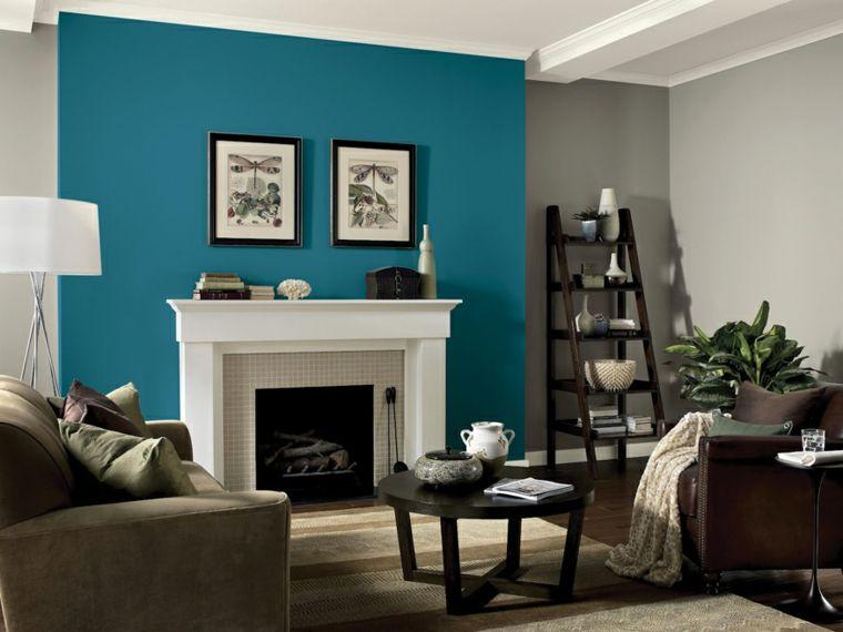 combinación de colores azul gris