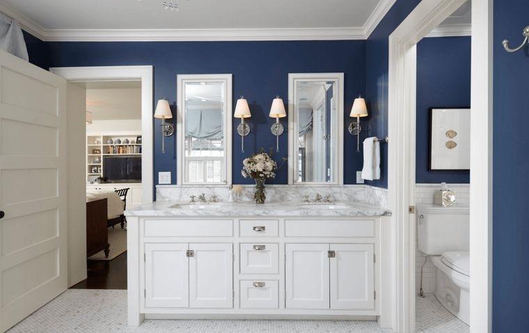 combinación de colores cuarto de baño
