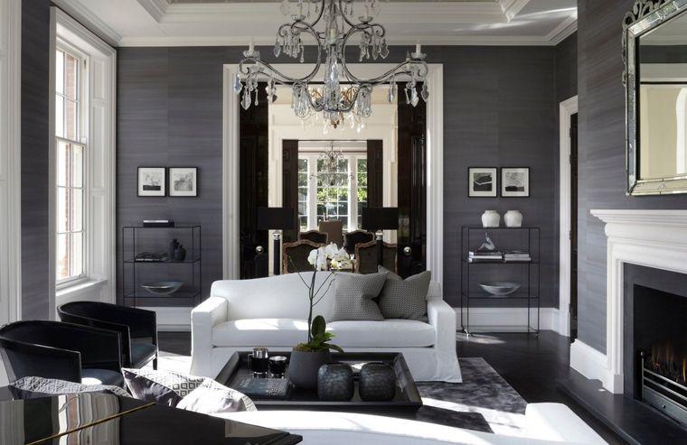 combinación de colores gris blanco