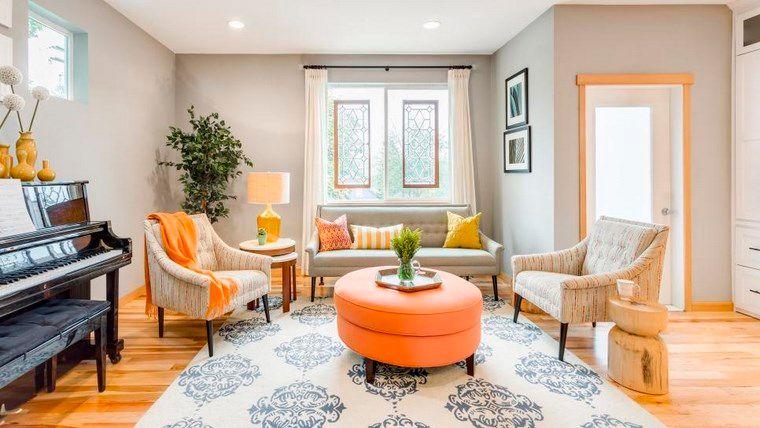 combinación de colores gris naranja