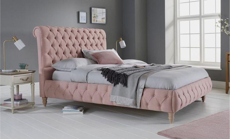 combinación de colores gris rosa