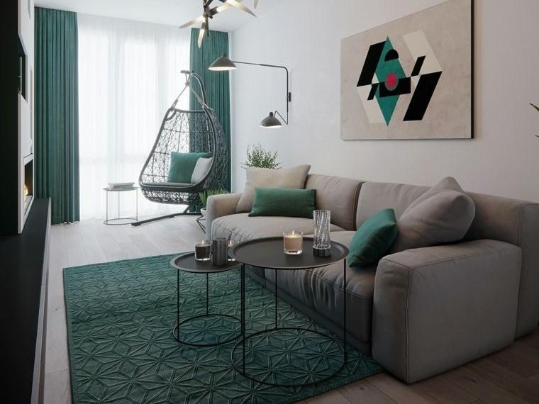 combinación de colores gris verde