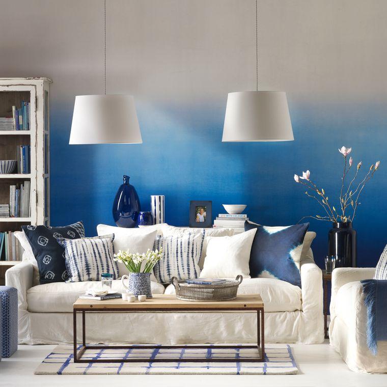 combinación de colores pared degradada