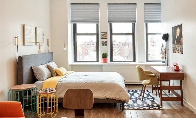 Para que tu dormitorio se vea más grande de lo que realmente es. La pregunta que nos hacemos hoy es cómo decorar un dormitorio pequeño.-ideas