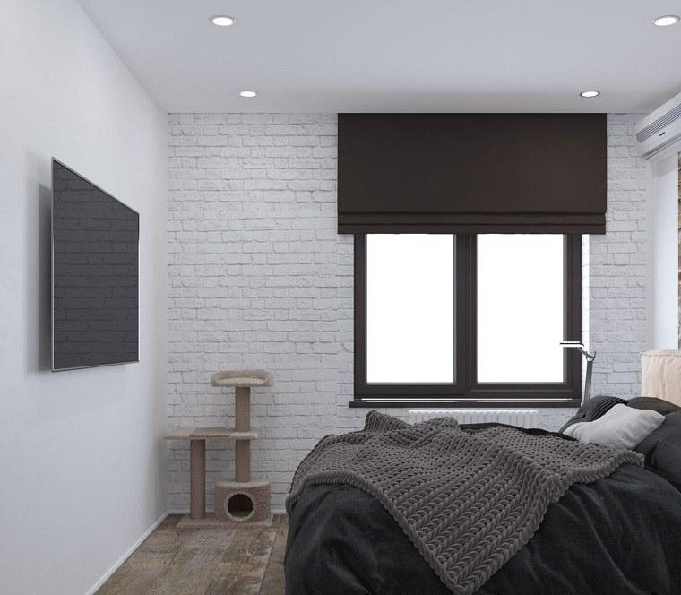 como-decorar-un-dormitorio-pequeno-paredes-blancas