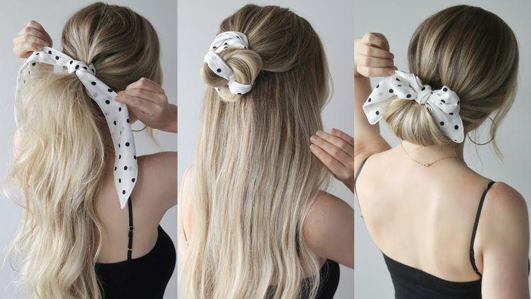 cuidado del cabello peinados con pañuelo
