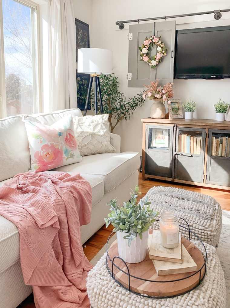 Decoración 2021 -salon-sofa-blanca