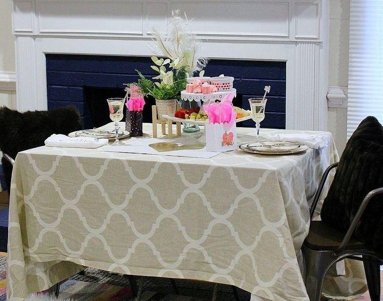 decoración romántica cena casera