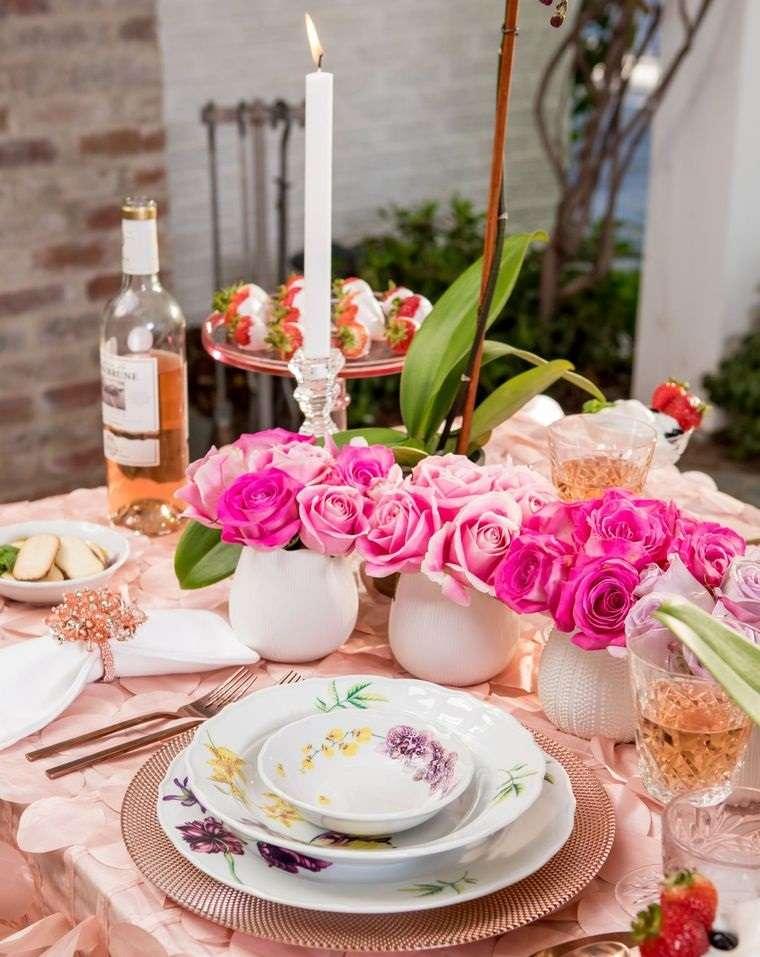 decoración romántica color rosa