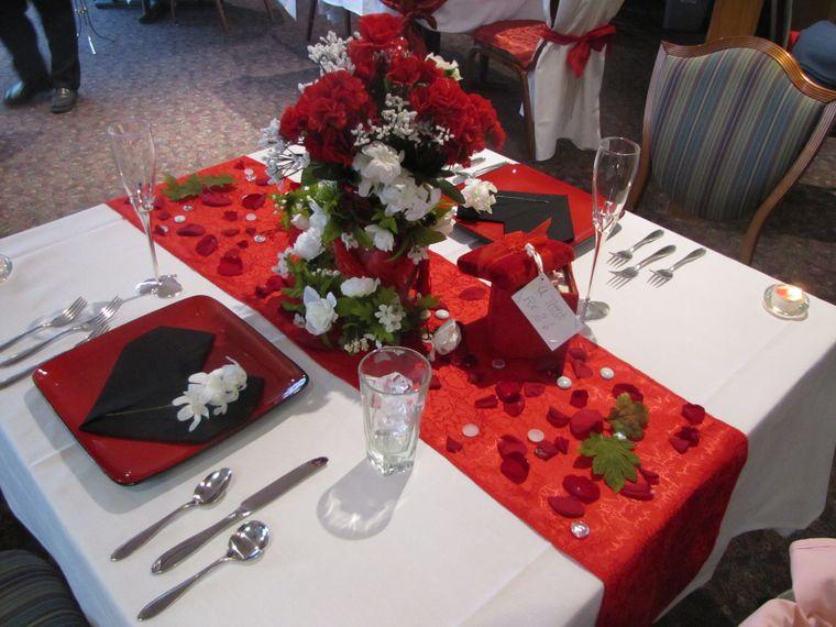 decoración romántica flores