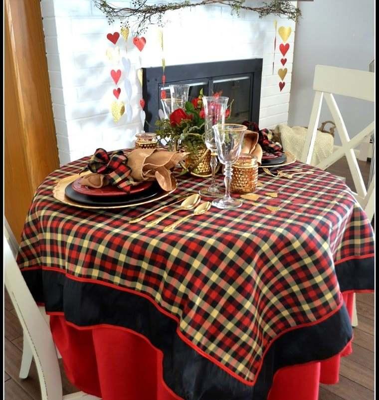 decoración romántica mesa para dos