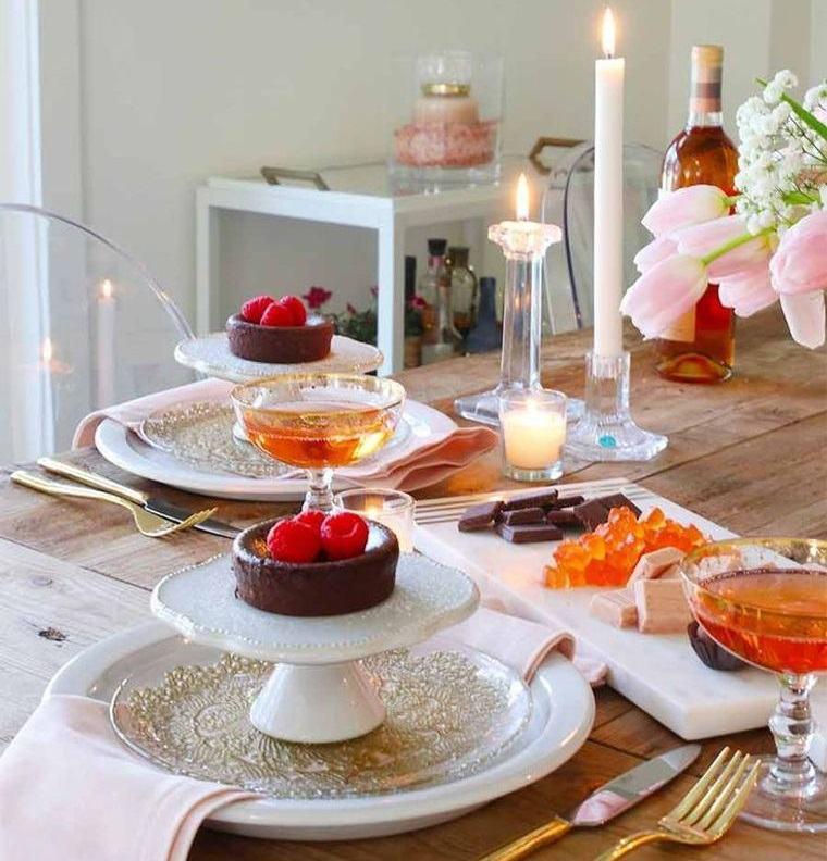 decoración romántica sencilla