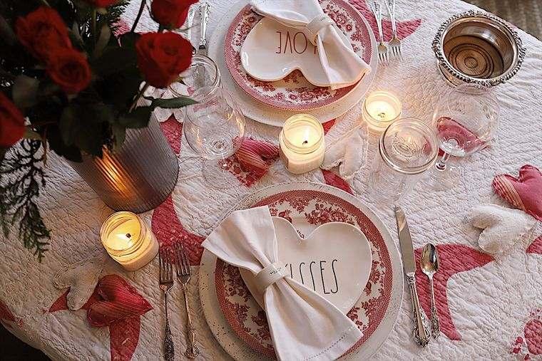 decoración romántica tiempo para dos