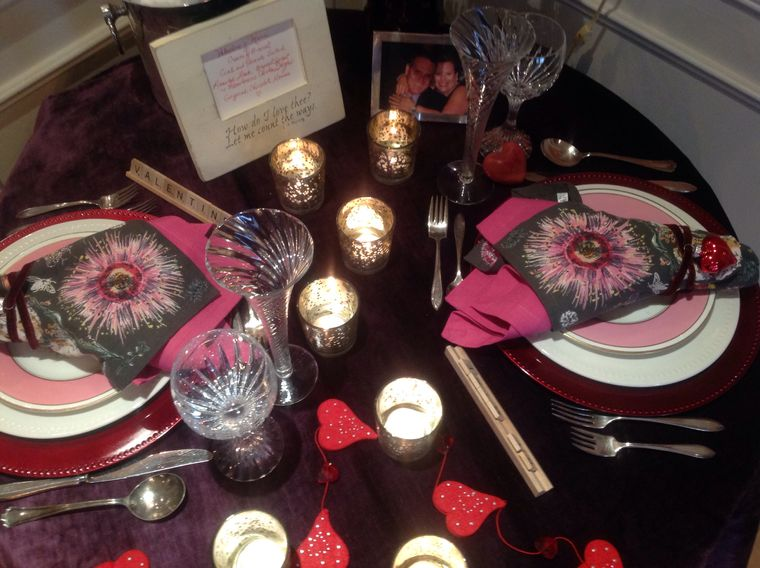 decoración romántica velas fotos
