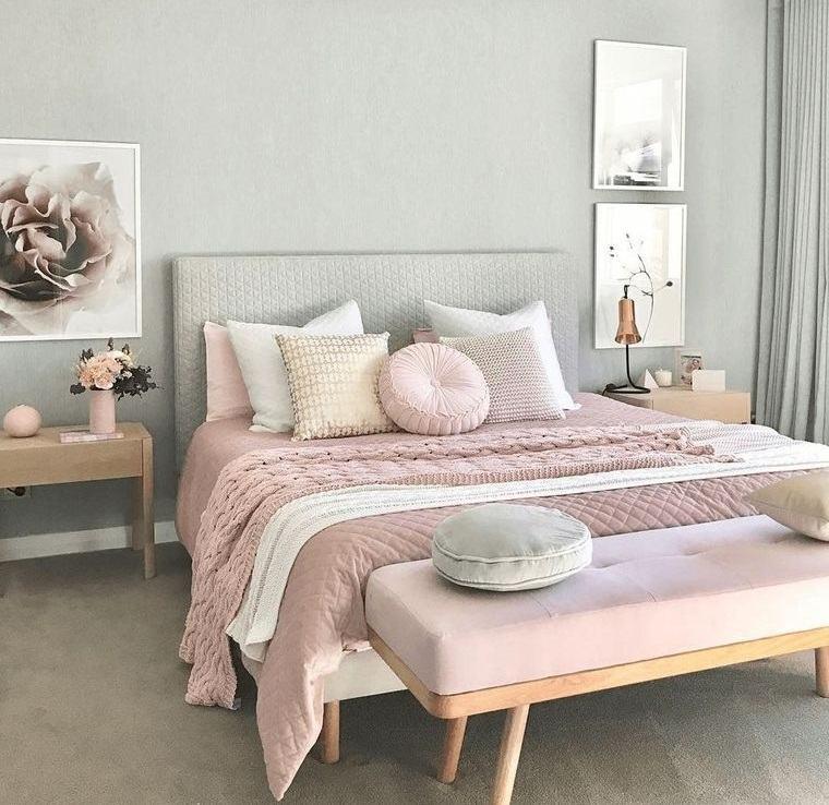 dormitorios colores pasteles primavera