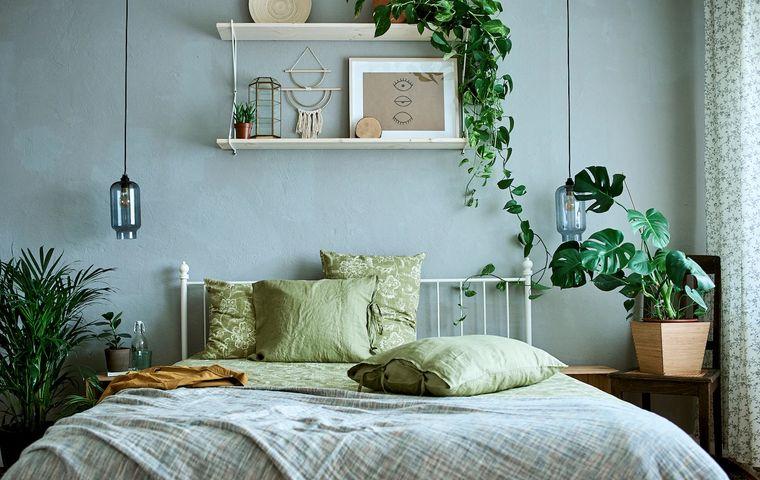 dormitorios con hermosas plantas