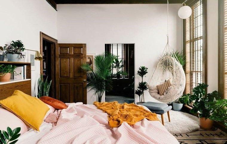 dormitorios decorados primaveral acogedores
