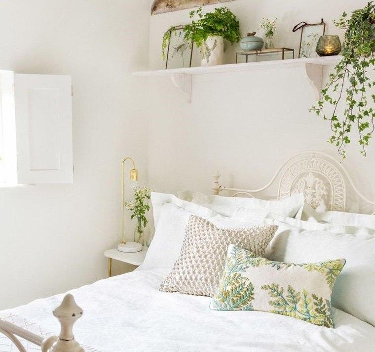 dormitorios primaverales en blanco