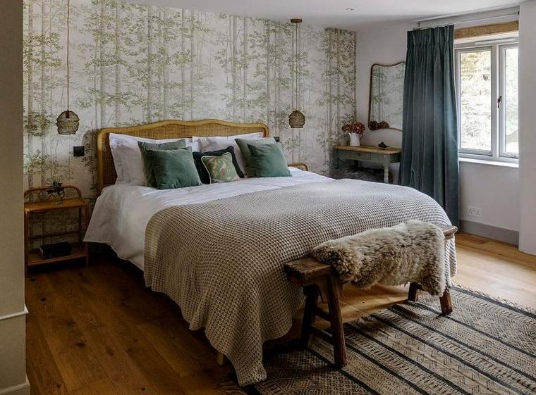 dormitorios rusticos en primavera