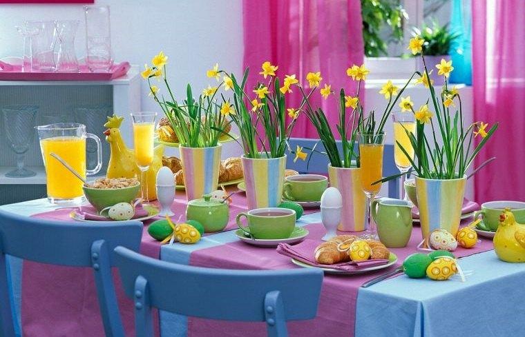 ideas para decorar alegre mesa primavera