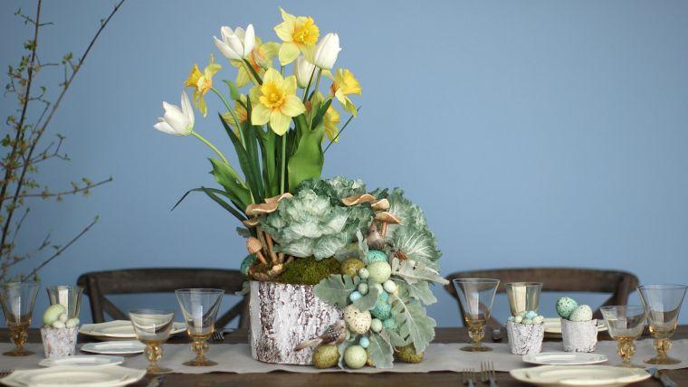 ideas para decorar centro de mesa narcisos