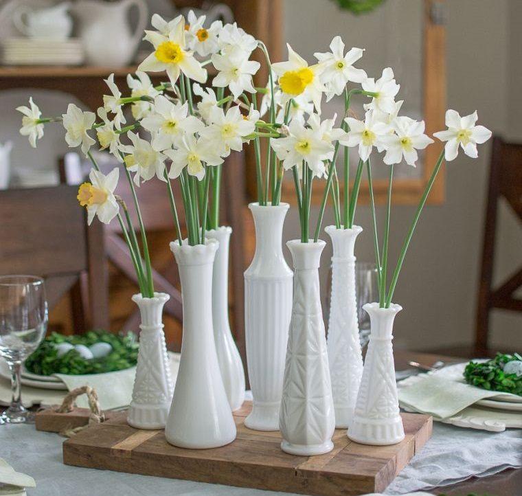 ideas para decorar elegante centro de mesa