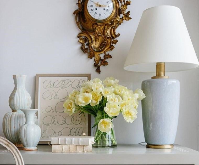 ideas para decorar flores repisa