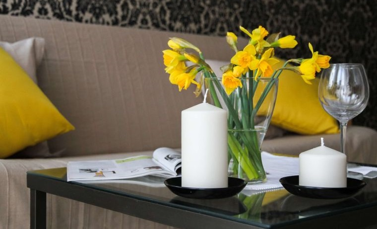 ideas para decorar flores velas
