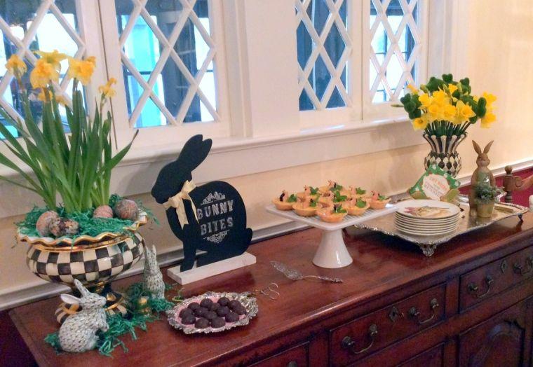 ideas para decorar mesa dulce con narcisos