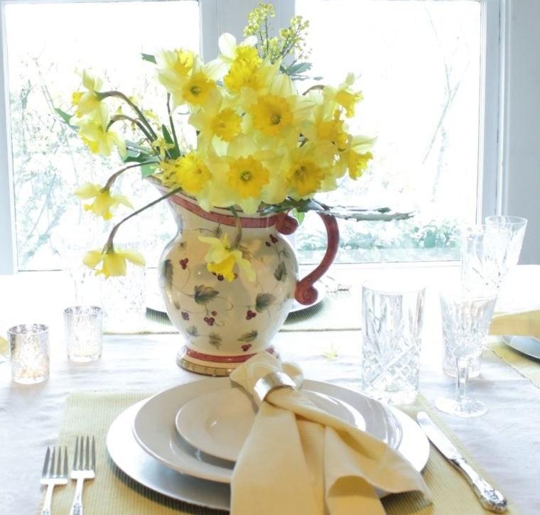 ideas para decorar mesa primavera