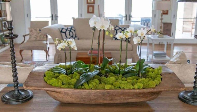 musgo para decorar con flores