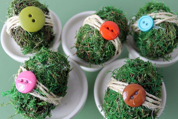 musgo para decorar huevos pascua