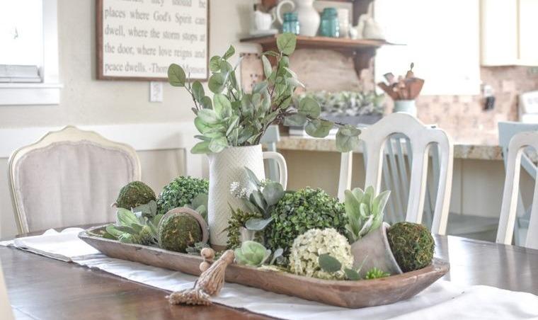 musgo para decorar mesa comedor