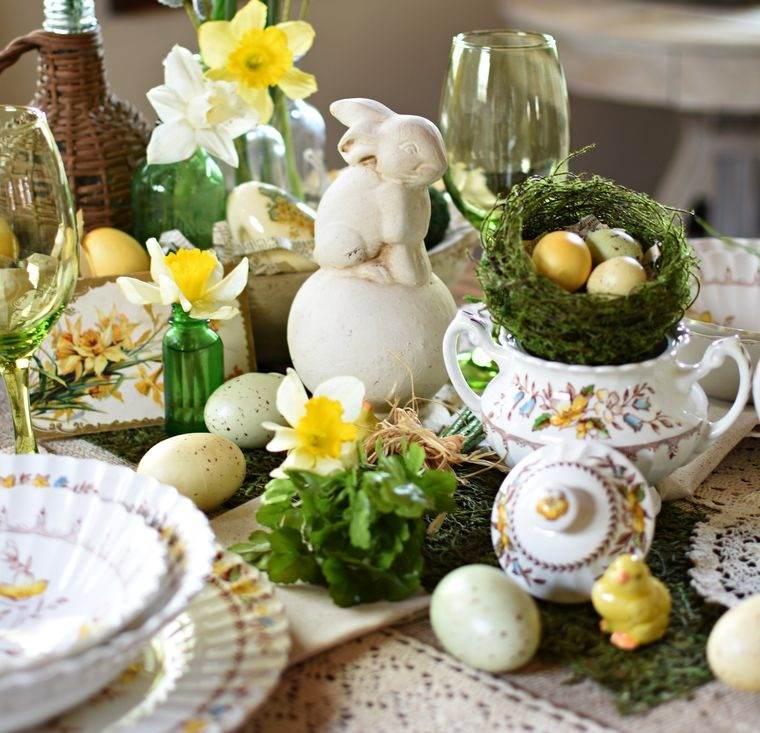 musgo para decorar mesa en primavera