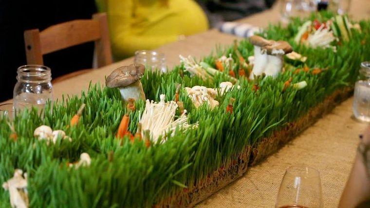 pasto de trigo centro de mesa