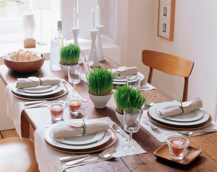 pasto de trigo decoracion mesa comedor