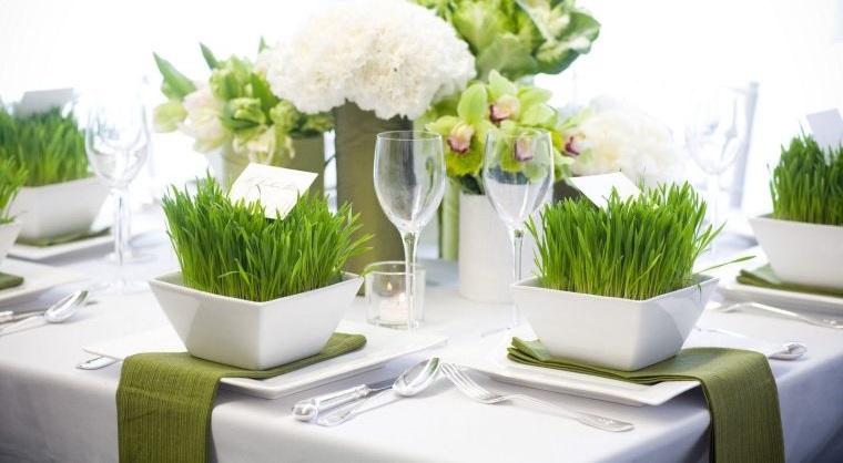 pasto de trigo detalle decorativo mesa