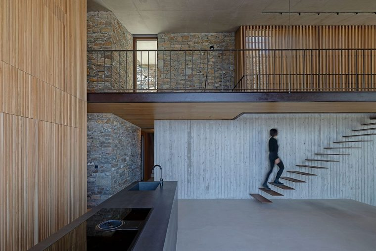proyecto arquitectónico ncaved paredes piedra