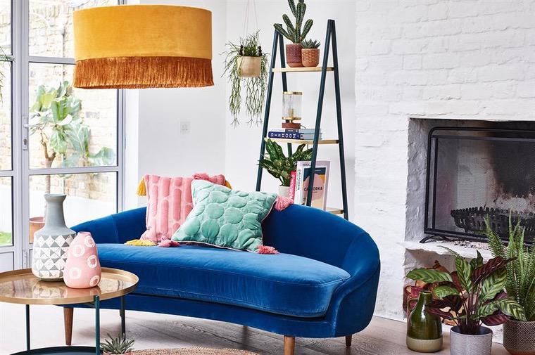 Decoración 2021  sofa-azul-hogar-ideas