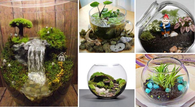 Terrarios de cristal – Ideas y consejos para usarlos en la decoración de tu hogar