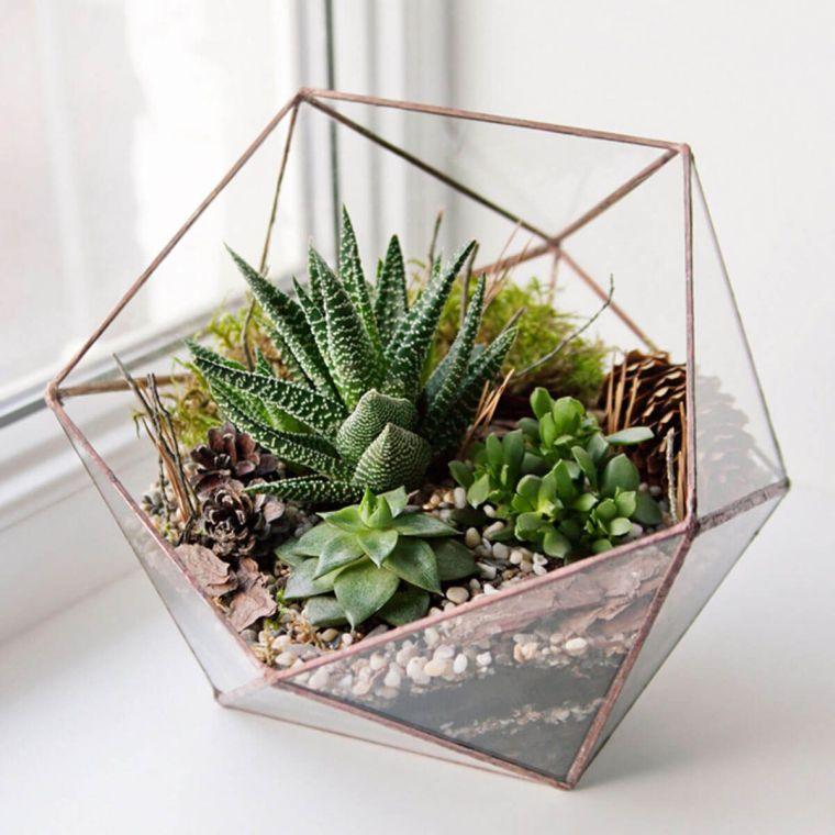 terrarios de cristal ideas decoracion