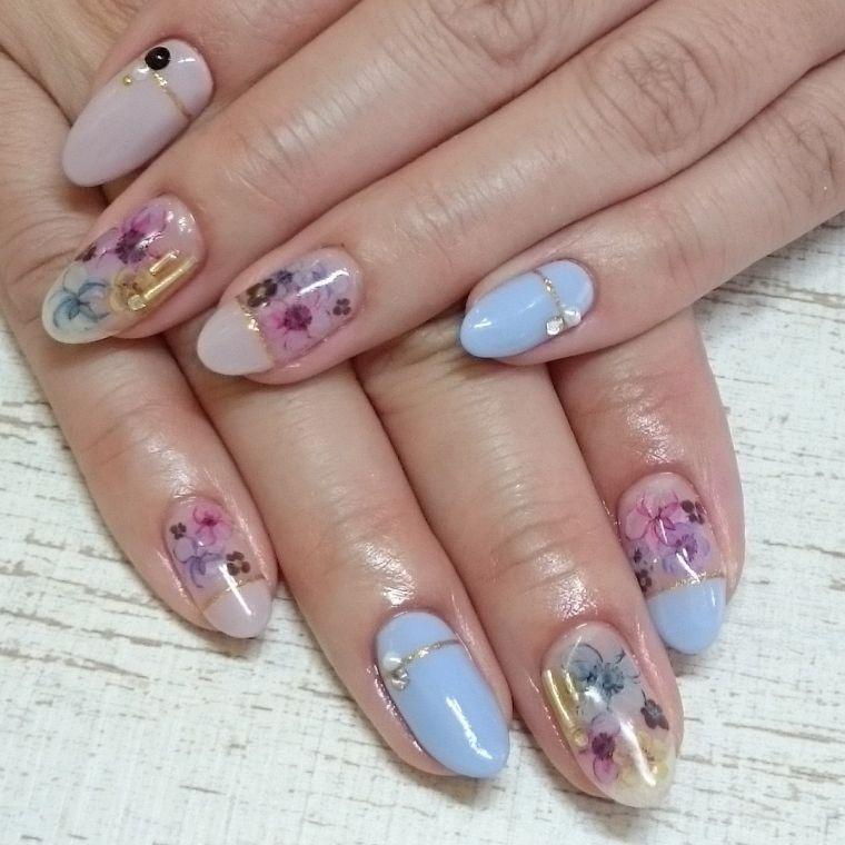 uñas decoradas colores pasteles