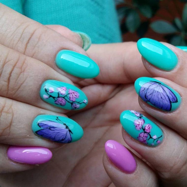 uñas decoradas diseños primavera