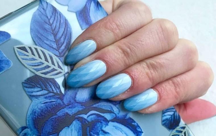 uñas decoradas lindo azul